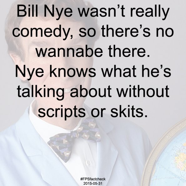 Bill Nye Factcheck