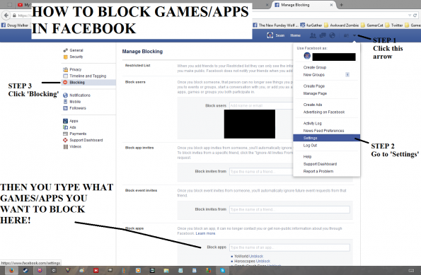 How To Block Apps or Games in Facebook