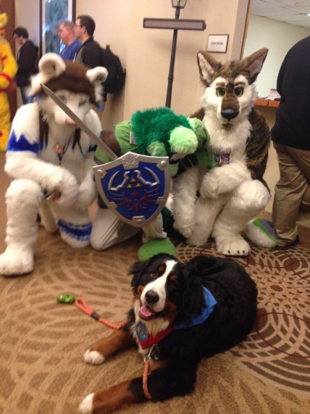 kenny  wassus - my mom thought furrycon was a pet event and volunteered w our therapy dog